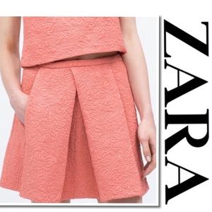 ZARA Trafaluc Rose Pink Quilted Skirt Small